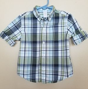 Janie and Jack baby boys long sleeve button down